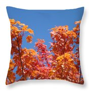 Trees Landscape Art Print Fall Tree Leaves Baslee Troutman Throw Pillow