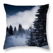 Trees Mountains And More Trees Throw Pillow
