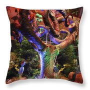 Trees Of Bellagio Throw Pillow