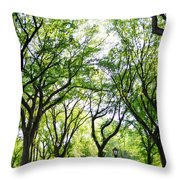 Trees Of Central Park, Nyc Throw Pillow
