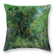 Trees Of Kokee Throw Pillow