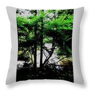 Trees Of Spring Throw Pillow