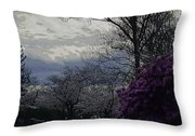 Trees Of Spring Throw Pillow