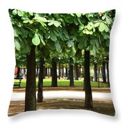 Trees Of Tuilieres Throw Pillow