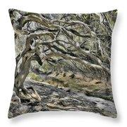 Trees Of Ziarat Throw Pillow