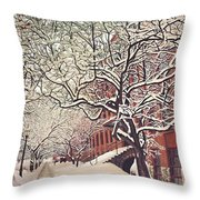 Trees On Franklin Throw Pillow