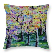 Trees On Hideaway Ct Throw Pillow