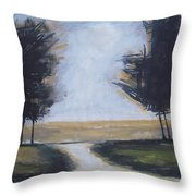 Trees On Rural Road 2 Throw Pillow