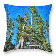 Trees On The Edge 2 Throw Pillow