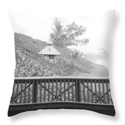 Trees On The Hill Throw Pillow