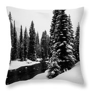 Trees On The River Throw Pillow