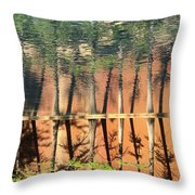 Trees Reflecting Throw Pillow