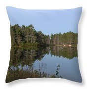 Trees Reflecting Throw Pillow
