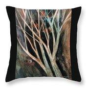 Trees That Tumble Throw Pillow