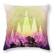 Trees Under Magic Mountains IIi Throw Pillow