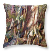 Trees With Knees Throw Pillow