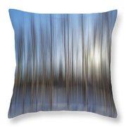 trees Alaska blue abstract Throw Pillow