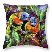 Treetop Rascals Throw Pillow