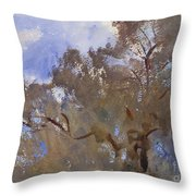 Treetops Against Sky Throw Pillow