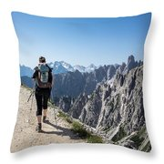 Trekking Throw Pillow