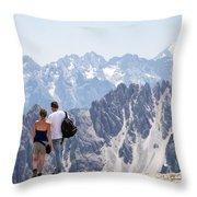 Trekking Together Throw Pillow
