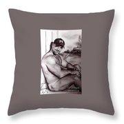 Trekman Mike Throw Pillow