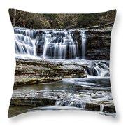 Treman Cascades #4 Throw Pillow