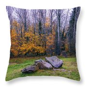 Trench Rocks Throw Pillow