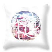 Trendy Design London Red Buses  Throw Pillow