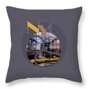 Trendy Design New York City Geometric Mix No 2 Throw Pillow