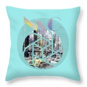 Trendy Design New York City Geometric Mix No 4 Throw Pillow by Melanie Viola