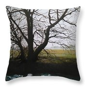 Trent Side Tree. Throw Pillow