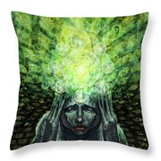 Trepidation Of Existence Throw Pillow