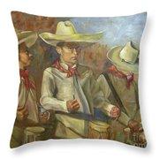 Tres Tambores Throw Pillow