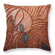 Tresses 3 - Tile Throw Pillow