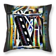 Trestle Detail Black White Grey Throw Pillow