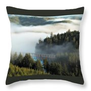 Trestle In Fog Throw Pillow