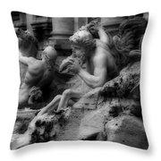 Trevi Fountain Detail 2 Throw Pillow