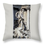 Trevi Fountain - Rome Throw Pillow