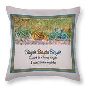 Tri Bike Bicycle Races Throw Pillow