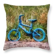 Tri Bike Throw Pillow