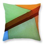 Tri Color Minimal  Throw Pillow