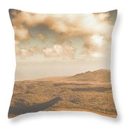 Trial Harbour Landscape Panorama Throw Pillow