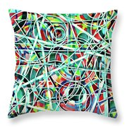 Triangle Interlacing Throw Pillow