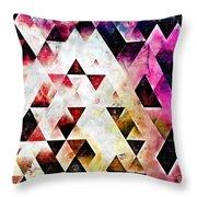 Triangles Autumn Throw Pillow