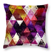 Triangles Impressionism Throw Pillow