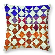 Triangles Impressionism Painting Throw Pillow