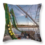 Triangles In The Harbor Throw Pillow