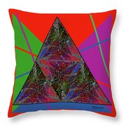 Triangular Thoughts Throw Pillow