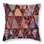 Triangularia Throw Pillow